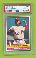 1976 Topps - Steve Carlton (#355)  Philadelphia Phillies   PSA 8 NM-MT
