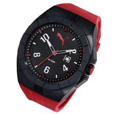 Puma Uhr XL Iconic red Quarz Uhr Kunststoff Datum moderne Herrenuhr PU103501005