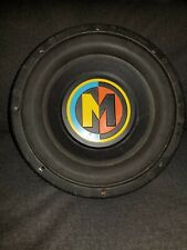 "Memphis Car Audio 10"" Inch Subwoofer Rasta Colors Chrome Base"