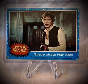 1977 STAR WARS - SPACE PIRATE HAN SOLO - Topps Series 1 (Blue) Card #4