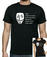 V for Vendetta anti-political anti- government : GOVERNMENTS SHOULD FEAR t-shirt