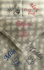More details for personalised with name grey blanket dog puppy pet kitten cat comforter bed gift