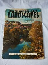 Vintage American,1980s How To Draw & Paint Landscapes Walter T. Foster Art Guide