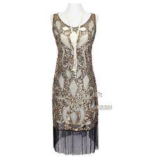1920s Vintage Charleston Gatsby Flapper Ladies Dress Party Sequin Tassel Abbey