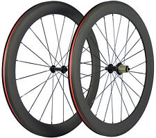 60mm Clincher Carbon Wheels Road Bike Cycling Wheelset Bicycle Wheel 700C Race