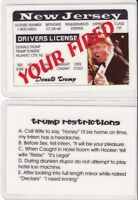 President Donald Trump -Trump Towers New Jersey Drivers License FAKE ID card