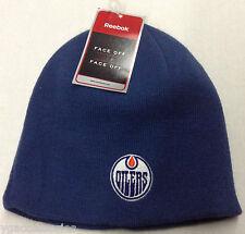 NHL Edmonton Oilers Reebok Winter Knit Beanie Cap Hat NEW!