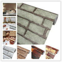 Vintage 3D Brick Effect Wallpaper Roll Vinyl Self Adhesive Wall Paper Sticker