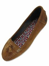 Fred Perry Damen Ballerina Loafers B9065W Betty Suede Ginger 5023