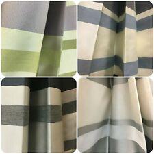 Belfield Rowena Denim blue white striped fabric curtain material 137 cm wide