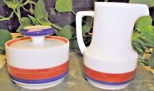 Vintage 10 oz Cream & Sugar Set- Ragtime by Noritake Casual China Craftone 1971