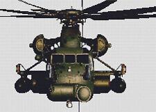 Helicóptero CH53 puntada cruzada contada Kit de aviones de transporte militar