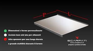 Spianatoia tagliere acciaio inox aisi 304 (inox 18/10) per impastare, spianare.