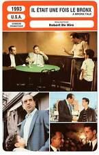 FICHE CINEMA : IL ETAIT UNE FOIS LE BRONX - Robert De Niro 1993 A Bronx Tale