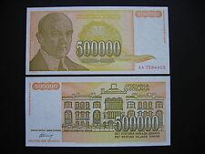 Yugoslavia 500000 Dinara 1994 (p143a) UNC