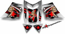 SKI-DOO REV MXZ SNOWMOBILE SLED WRAP GRAPHICS STICKER DECAL KIT 03-07 Pinup Red