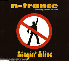 N-TRANCE ft RICARDO DA FORCE - Stayin' Alive (UK 4 Tk CD Single)