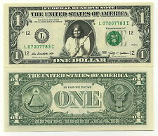 GERONIMO VRAI BILLET DOLLAR US! APACHE INDIEN D'AMERIQUE USA AMERINDIEN FAR WEST