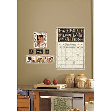FAMILY & FRIENDS dry erase CALENDAR WALL STICKERS 10 decals country photo frames