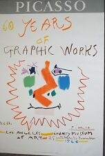 Picasso Original Poster 60 Years of Graphic  LACMA 1966