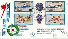 Repubblica Italiana 1981 FDC Filagrano Costruzioni Aeronautiche Italiane Racc.