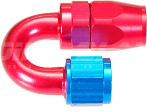 AN-10 180 Degree Hose End Fitting for Braided Hose