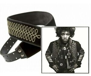 Sgt. Peppers VELVET Black & Gold Guitar Strap by Right On Hand Made in Spain