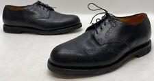 Drew Shoes Mens Black Leather Wingtip Oxford Dress Shoes Size 10.5N