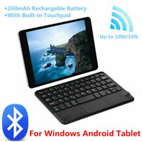 7 in Mini Wireless Bluetooth 3.0 Keyboard With Touchpad for Windows Android iOS