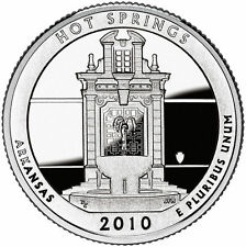 USA: 1/4 dolar 2010 P HOT SPRINGS Quarter Arkansas - Nº 1 Parques Naturale