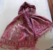 Multi-Coloured Paisley Shawl - Cashmere Blend