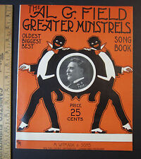 RARE Sheet Music Song Book - Al G Field Greater Minstrels 1911 Black Americana