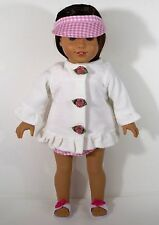 """DOLL CLOTHES FOR 18"""" AMERICAN GIRL DOLL SWIMWEAR WITH ROBE SANDALS CLOTHES"""