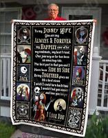 Jack Skellington Sally To My Wife You're My Forever & Always Sofa Fleece Blanket