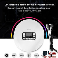 Bluetooth Portable Personal CD Player With Earphones USB/Battery Powered - HOTT