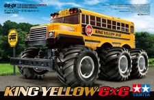 Tamiya 58653 1/18 RC Off Road Truck G6-01 Chassis King Yellow 6x6 School Bus Kit