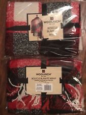 NWT WOOLRICH Womens Boucle Blanket Wrap, Red/Black/White