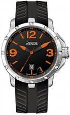 VENUS Chroma Ladies Size Orange Black Rubber Strap VE-1317A1-22O-R2