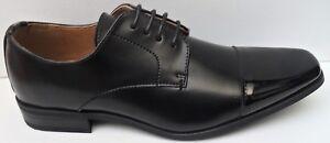 Mens Peter Werth Black Leather Lace Up Smart Dress Shoes - Size UK 7 EUR 41