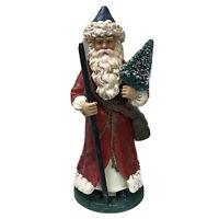 """Dept 56 Santa Red Coat Tree Belsnickle Figure 11.5"""" Christmas Decor Figure"""
