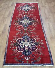 Traditional Vintage Persian Wool 333 x 90 cm Handmade Rugs Oriental Rug Carpet