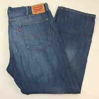 Levi's 505 Denim Jeans Mens 40X30 Blue Straight Leg Regular Fit Medium Washed