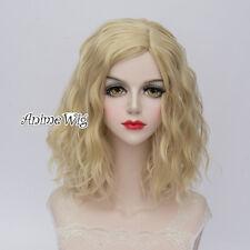 35CM Lolita Ladies Fancy Light Blonde Curly Hair Cosplay Wig Heat Resistant