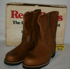 Red Wing Pecos 966 Steel Toe Boots Brown Leather UK6 US7D Cord Sole USA