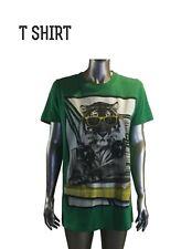 Vintage Tiger Shades, headphones, Cool Animal Graphic T-Shirt,Green, Medium