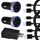 Wall Plug Car Charger Type-C Cable For LG G7 fit G8X V60 V50 V40 G7 ThinQ G6+ G5