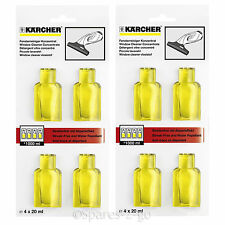 KARCHER Window Vac WV Glass Cleaner Concentrate 8 x 20ml Capsules Sachets 2 Pack