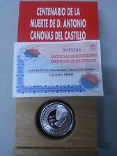 Año 1997. 1000 Pesetas Plata. Antonio Cánovas del Castillo. Peso 13,50 gr,