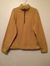 Saddlebred Yellow Tan Zip Fleece Pullover Jacket Mens Size Medium