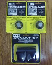 (2)HKS 586-A Speedloaders [6-shot .357/38] + (1)HKS 100B Nylon Speed-Loader Case